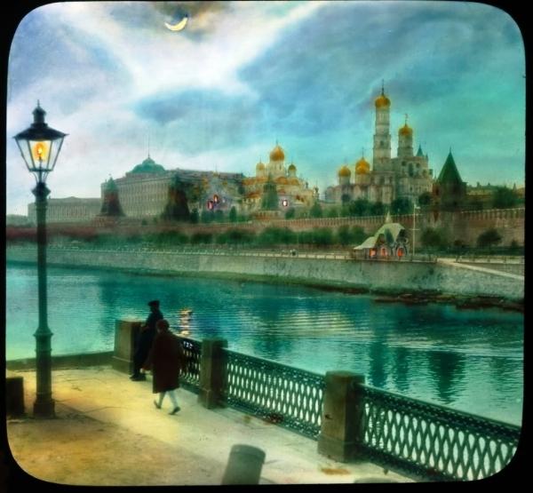 Старая Москва, вид на Кремль с Большого Москворецкого моста