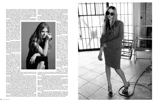Хлое Грейс Морец для журнала Flaunt