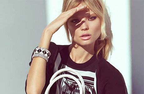 Магдалена Фраковяк в лукбуке H&M